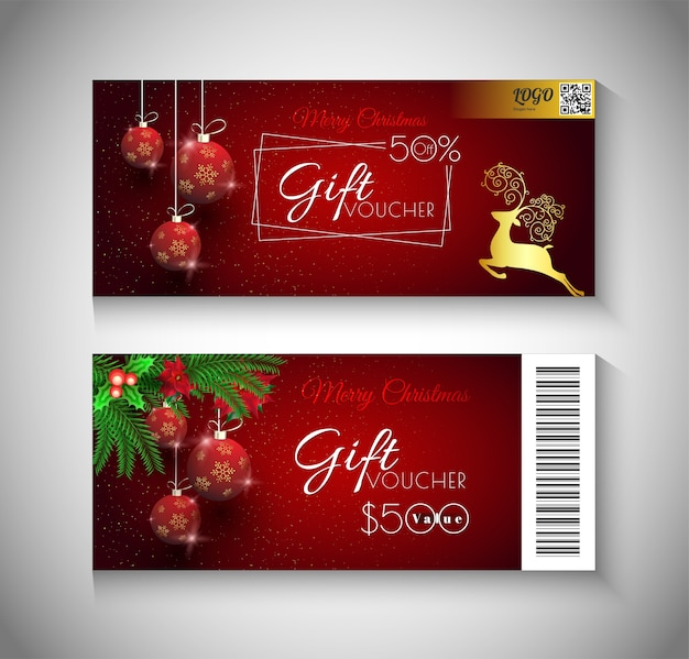 Feliz navidad vales de regalo.