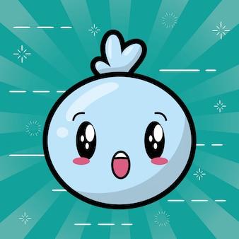 Feliz personaje kawaii