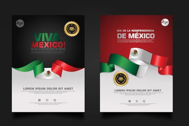 Feliz plantilla de día de la independencia de méxico.