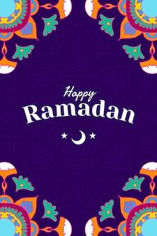 Feliz plantilla social del festival de ramadán