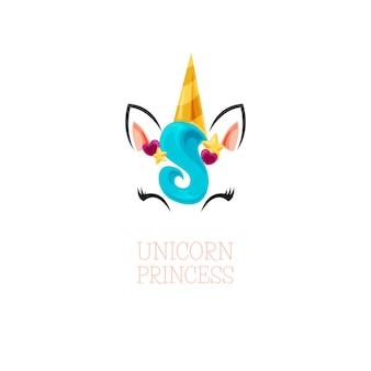Feliz princesa unicornio