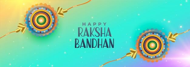 Feliz raksha bandhan celebración banner