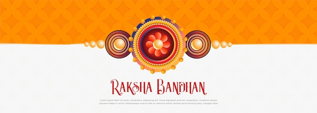 Feliz raksha bandhan festival banner diseño