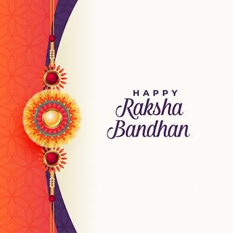 Feliz raksha bandhan tarjeta de felicitación tradicional