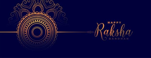 Feliz raksha bandhan tradicional festival indio banner