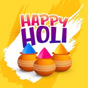 Feliz saludo del festival holi
