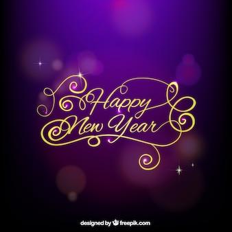 Feliz tarjeta de año nuevo
