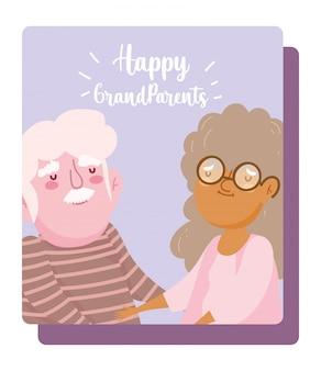 Feliz tarjeta del día de los abuelos