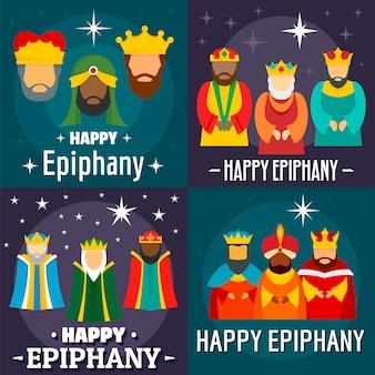 Feliz tarjeta de epifanía