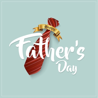 Feliz tarjeta de felicitación de caligrafía del día del padre