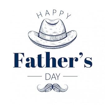 Feliz tarjeta de felicitación del día del padre.