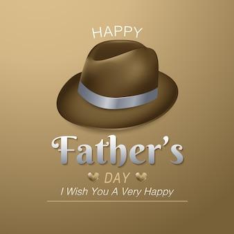 Feliz tarjeta de felicitación del día del padre