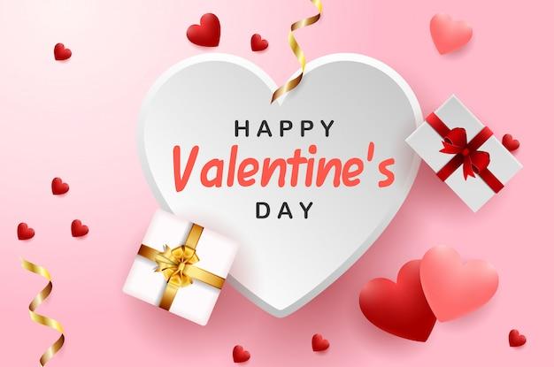 Feliz tarjeta de felicitación del día de san valentín