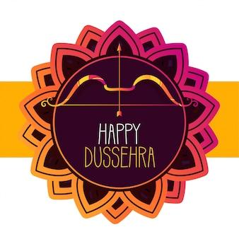 Feliz tarjeta de felicitación del festival dussehra