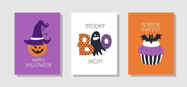 Feliz tarjeta de felicitación de halloween