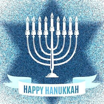 Feliz tarjeta de felicitación de hanukkah.