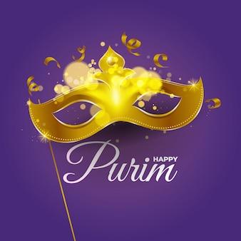feliz tarjeta de felicitación de purim
