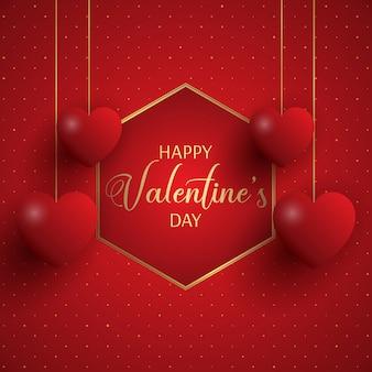 Feliz tarjeta de felicitación de san valentín