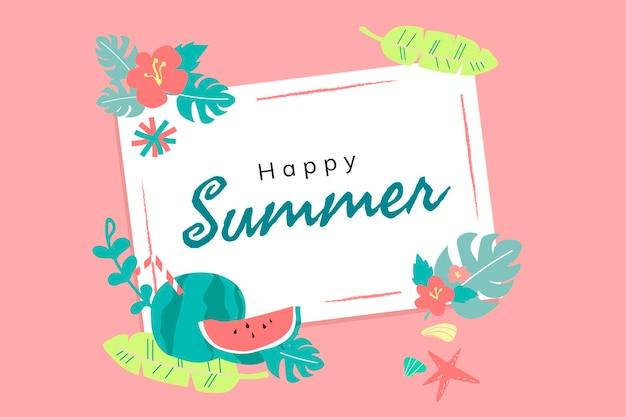 Feliz tarjeta de vacaciones de verano