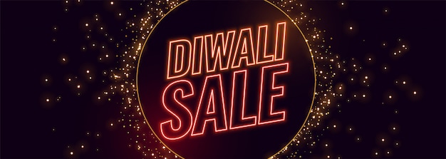 Feliz venta de diwali banner