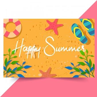 Feliz verano de fondo