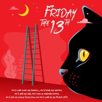 Feliz viernes 13 ilustración