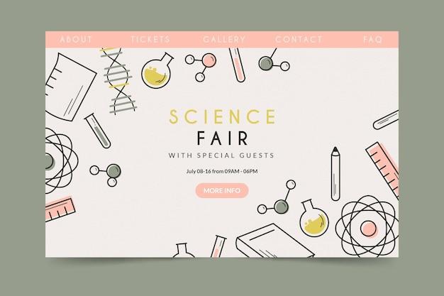 Feria de ciencias de la página de aterrizaje