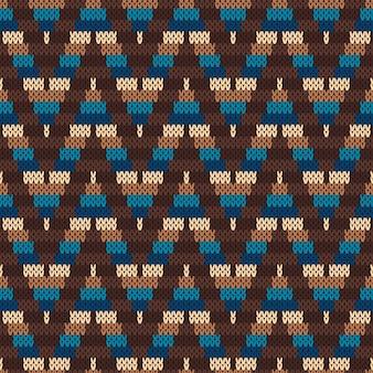 Feria tradicional patrón de la isla. adorno de tejer sin costuras