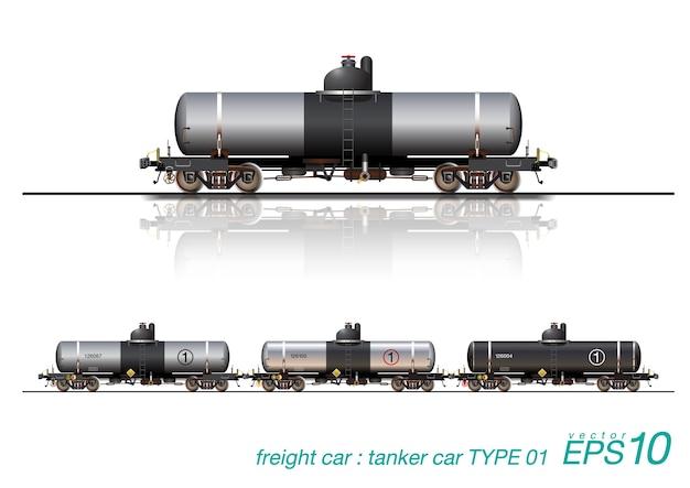 Ferrocarril del coche petrolero