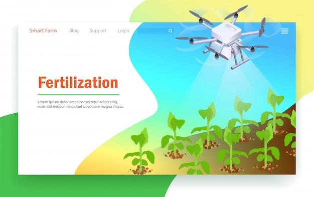 Fertilización en smart farm.
