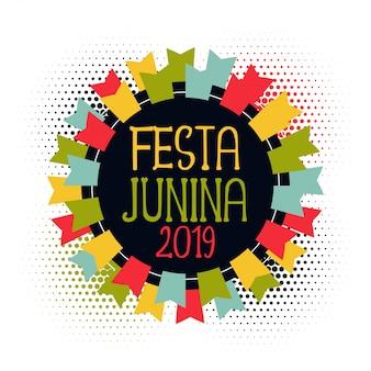 Festa junina 2019 banderas abstractas