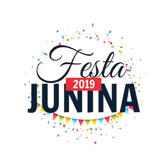 Festa junina 2019 fondo celebración diseño.