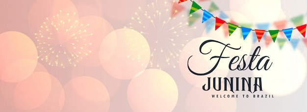 Festa junina banner brillante