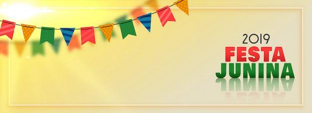 Festa junina banner festival brasileño
