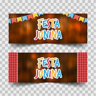Festa junina banners