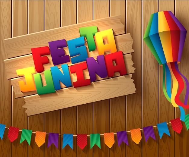 Festa junina brasil diseño de vacaciones