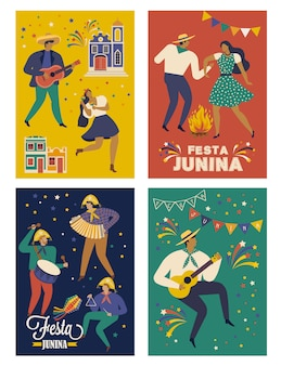 Festa junina brazil june festival cards