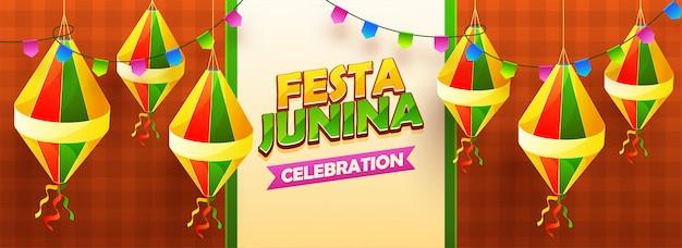 Festa junina cabecera de celebración