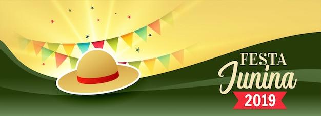 Festa junina celebración diseño.