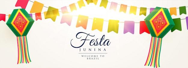 Festa junina celebración fondo diseño.