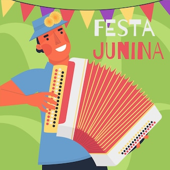 Festa junina celebration diseño plano