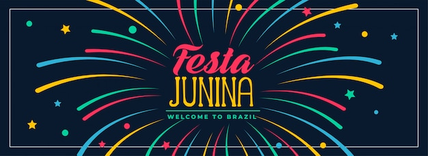 Festa junina colors banner design