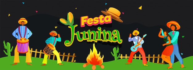 Festa junina concept.