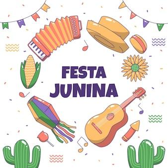 Festa junina dibujo