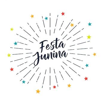 Festa junina estrellas decoracion