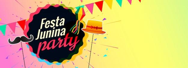 Festa junina fiesta celebración banner diseño
