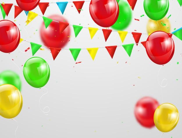 Festa junina globos de colores,