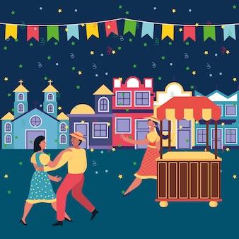 Festa junina ilustración