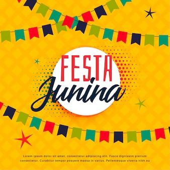 Festa junina plantilla de saludo brasileña