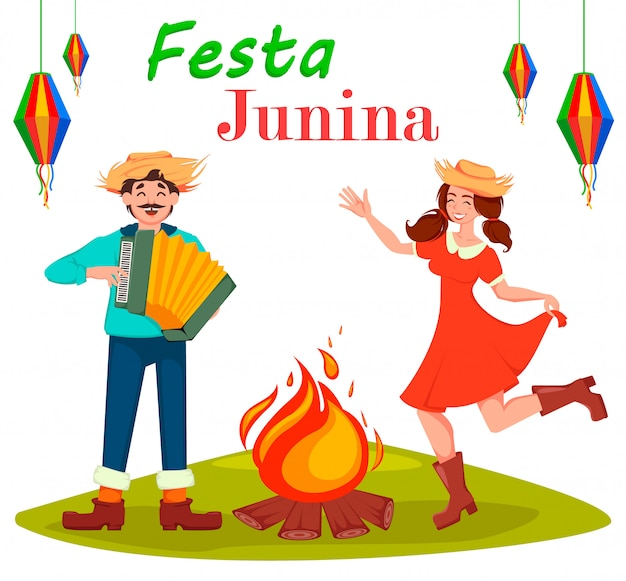 Festa junina tarjeta de felicitación
